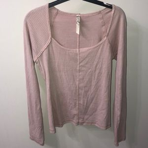Free People Long Sleeve Square Neck